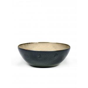 Serax Kom XL 18 cm Mist grey/DarkBlue