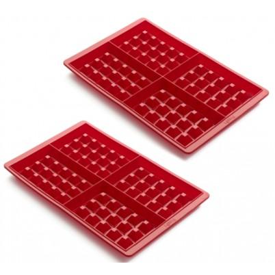 Bakken, Wafel mal set van 2x4 stuks, rood
