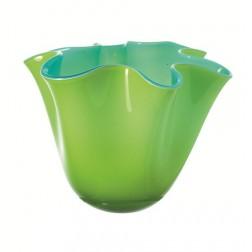 Lia, Vaas groen / turquoise, 15x18cm