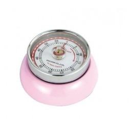 Retro-kookwekker 7x3cm,roze