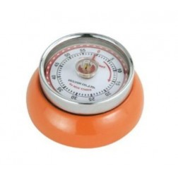 Retro-kookwekker 7x3cm,oranje