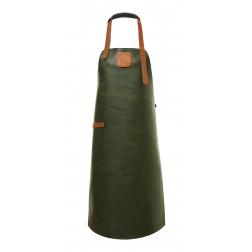 Schort Leer Green/Cognac L