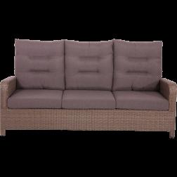 Loungebank verstelbaar 3zits