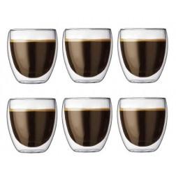 Pavina, Dubbelwandig glas, 0,35L Set/6