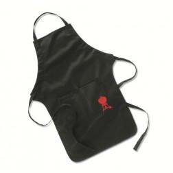 Schort, zwart met rode barbecue