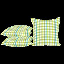 Seatlle, Sierkussen blauw/geel kleine blok