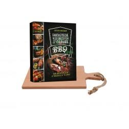 Houten Serveerplank 38cm + BBQ Fantastisch kookboek