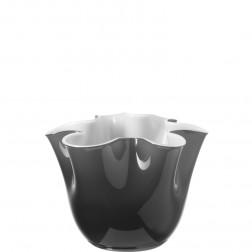 Lia Vaas 15x18 grijs/wit